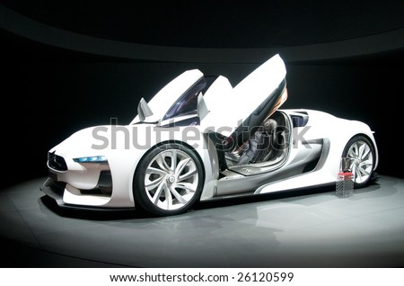GENEVA, MAR 4: GT by Citroen, concept car presented at the 79th Geneva Motor Show, in Swtizerland on March 4, 2009.