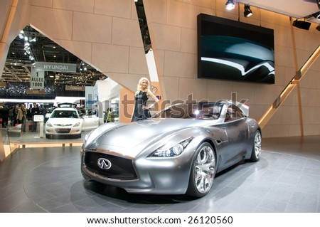 GENEVA, MAR 4: Infiniti concept car presented at the 79th Geneva Motor Show, in Swtizerland on March 4, 2009.