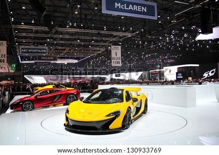 GENEVA, MAR 5: McLaren Stand at the 83rd Geneva Motor Show, in Switzerland on March 5, 2013.