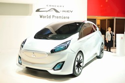 GENEVA, MAR 5: Mitsubishi ConceptCA-Miev, World Premiere, presented at the 83rd Geneva Motor Show, in Switzerland on March 5, 2013.