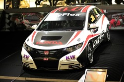 GENEVA, MAR 5: Racing car from Honda Racing, presented at the 83rd Geneva Motor Show, in Switzerland on March 5, 2013.