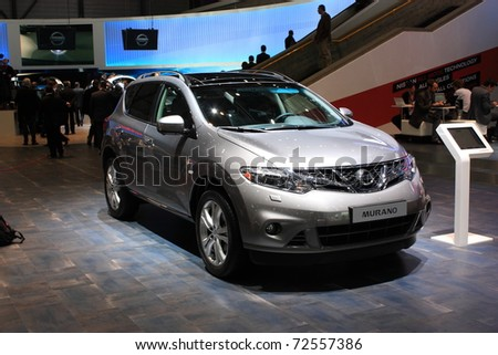 GENEVA - MARCH 3 : A  NISSAN  MURANO car show on display at 81th International Motor Show Palexpo-Geneva on March 3, 2010 in Geneva, Switzerland.