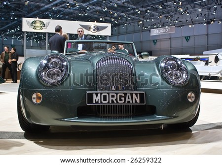 Morgan Car Logo. MARCH 7: Morgan racing car