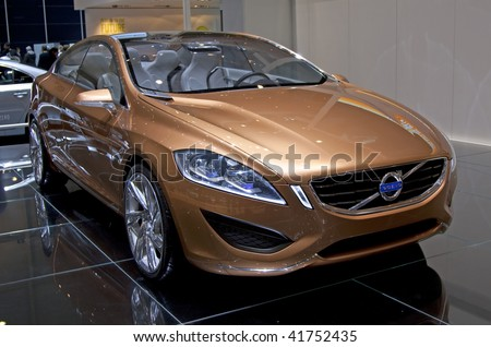 geneva march 7 new volvo c60 car on display at 79th international motor show palexpo geneva. Black Bedroom Furniture Sets. Home Design Ideas