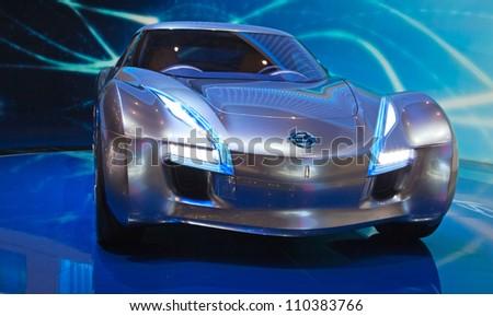 GENEVA - MARCH 8: The Nissan ESFlow on display at the 81st International Motor Show Palexpo-Geneva on March 8; 2011 in Geneva, Switzerland.