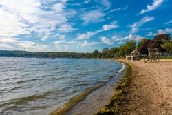 Geneva public beach view in Geneva Town of Wisconsin