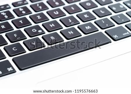 Geneva/Switzerland- 09.09.18 :  Apple MacBook Pro keyboard close up Mac  #1195576663