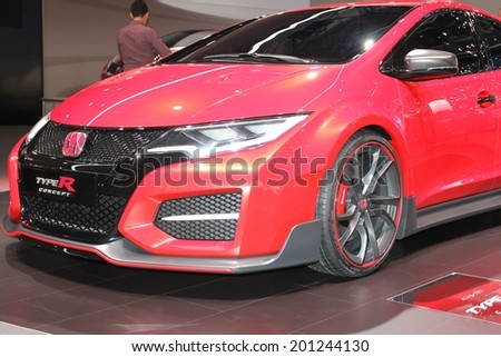 Geneva Switzerland March 4 2014 2014 Honda Civic Type R Concept