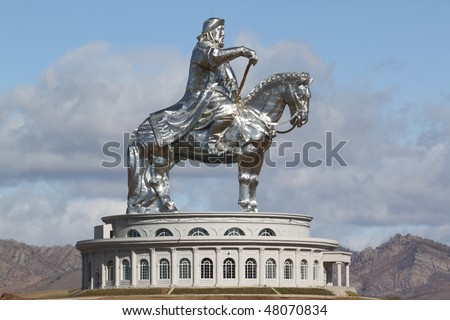 Genghis khan - stock photo