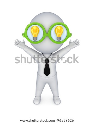 Genius concept.Isolated on white background.3d rendered.