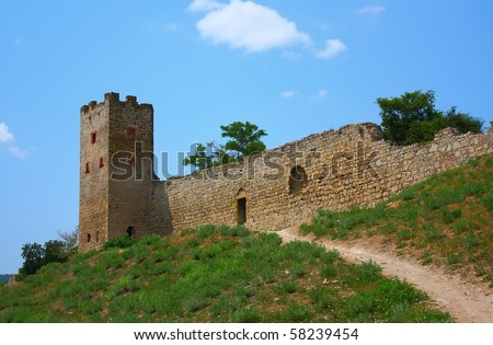 Genoese fortress in the town of Feodosia, Crimea, Ukraine