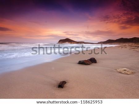 Genoveses beach and sea-Spain-Almeria-Cabo de Gata natural park
