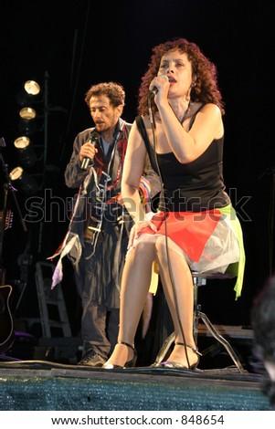 Genoveva in concert, July 2003