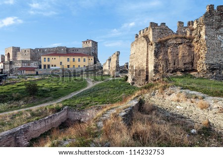 Genti Koule medieval castle and prison at Thessaloniki city in Greece
