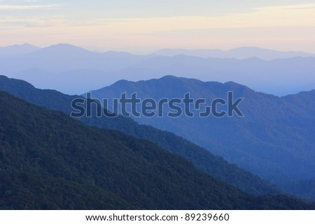 genting highland mountain landscape in the morning