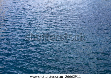 Gentle blue waves of the ocean water