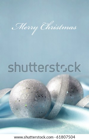 Gentle christmas card - stock photo