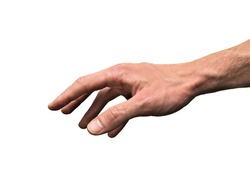 Gentle Touch Hand. Hand gesture signal. Known symbol and sign.