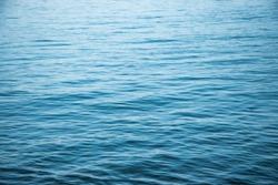 Gentle waves in blue
