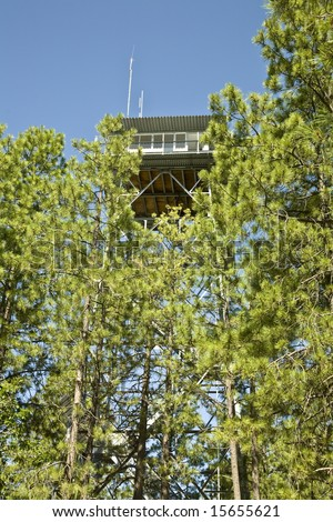 Gentry Fire Lookout Tower in the Apache-Sitgreaves national forest in Arizona's White Mountains.
