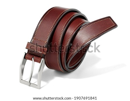 genuine leather belt for man isolated Foto stock ©