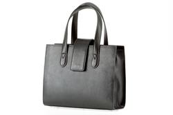 Genuine leather Black work bag