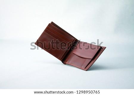 Genuine leather men's bifold wallet #1298950765