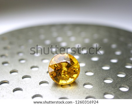 genuine mined natural yellow sapphire gem stone round cutting for gems jewelry #1260316924