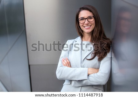 Genuine natural sincere intelligent looking corporate executive financial advisor type professional portrait