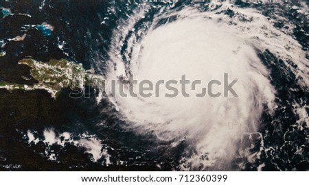 Geocolor Image of Hurricane Irma. Elements of this image furnished by NASA. #712360399