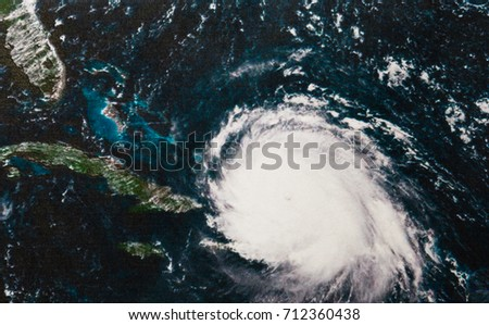 Geocolor Image of Hurricane Irma. Elements of this image furnished by NASA. #712360438