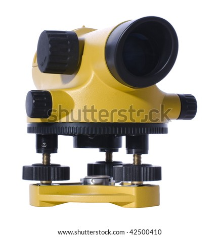 geodetic leveling - stock photo