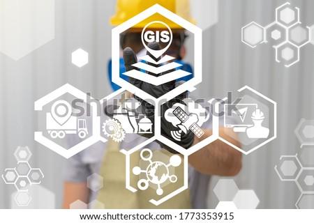 Geographic Information System (GIS) Modern Industry Smart Transportation Concept.