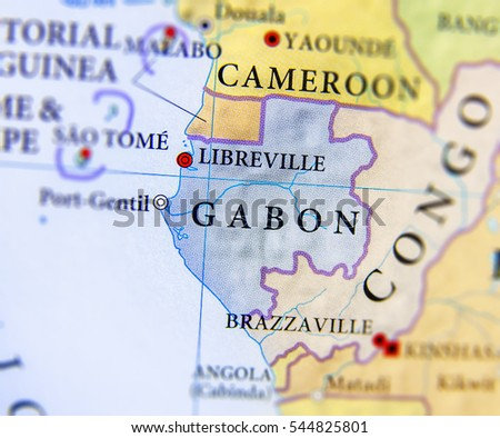 Popular Free Gabon Country in Africa on the World Map Photos