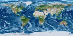 Geography world map. Modified toned with city lights. Elements of this image furnished by NASA