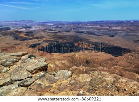 Geological formation Mizpa Ramon - Negev desert, Israel
