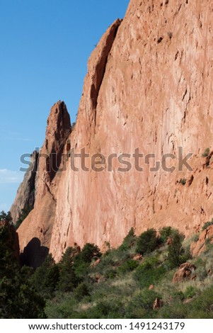 Geological formation under a blue sky #1491243179