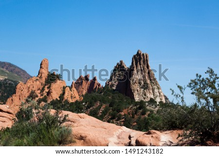 Geological formation under a blue sky #1491243182