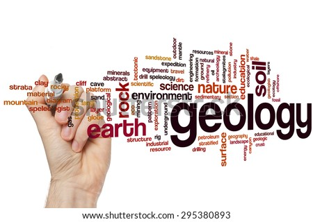 Geology concept word cloud background