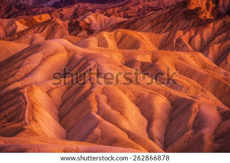 Geology of Death Valley National Park in California, United States. Death Valley Formations.