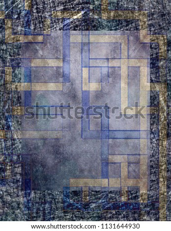 Geometric abstract background. Beautiful colorful grunge design #1131644930
