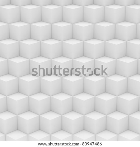 Geometric abstract background made of  white cubes