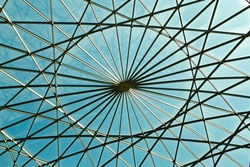 Geometric and abstract roof made of glass.