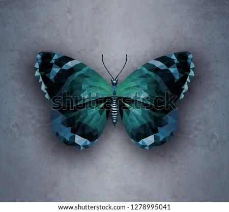 Geometric butterfly on the wall Сток-фото ©