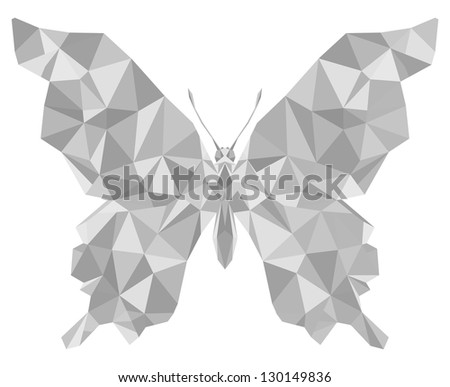 geometric butterfly with many brilliant triangles (swallowtail)