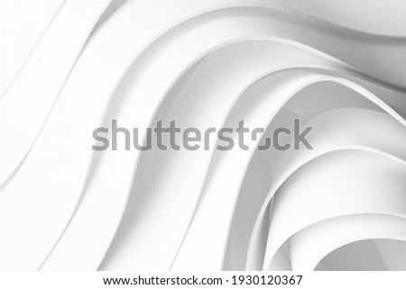 Geometric composition made of curved elements, 3d illustration