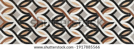 Geometric decoration formed by different marbles y stones textures.Designs for tiles, paper, fabrics ... Foto d'archivio ©