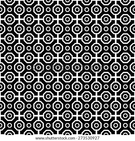 Geometric fine abstract  pattern. Seamless modern texture for wallpapers and backgrounds. Black and white colors