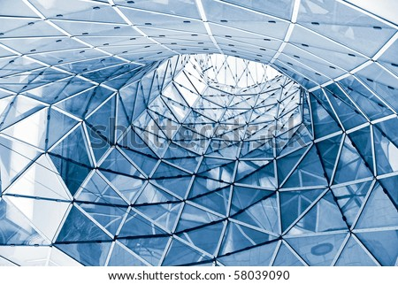 geometric glass facade