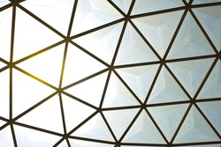 Geometric glass structure of ceiling dome